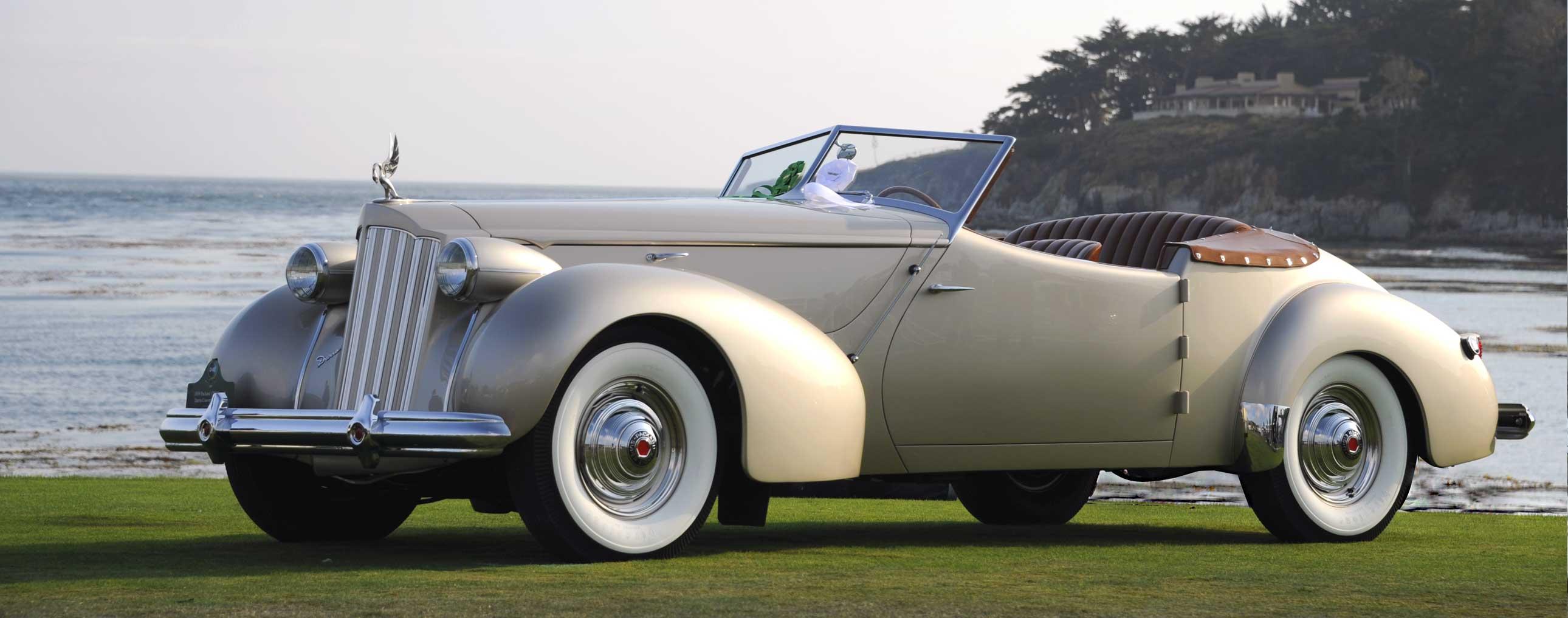 1939 Packard 1703 Super-8 Darrin Convertible Victoria | Pebble Beach Concours | The Milwaukee Masterpiece