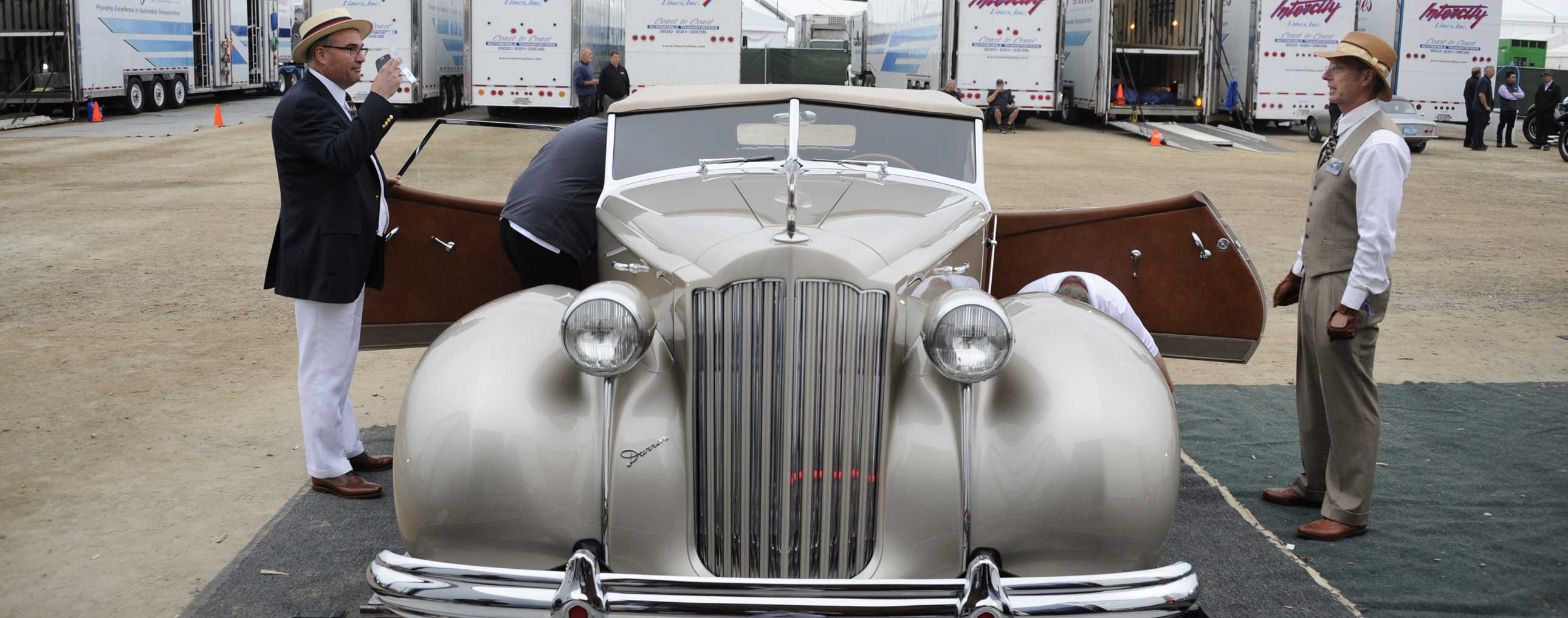1939 Packard 1703 Super-8 Darrin Convertible Victoria | Pebble Beach Concours | The Milwaukee Masterpiece