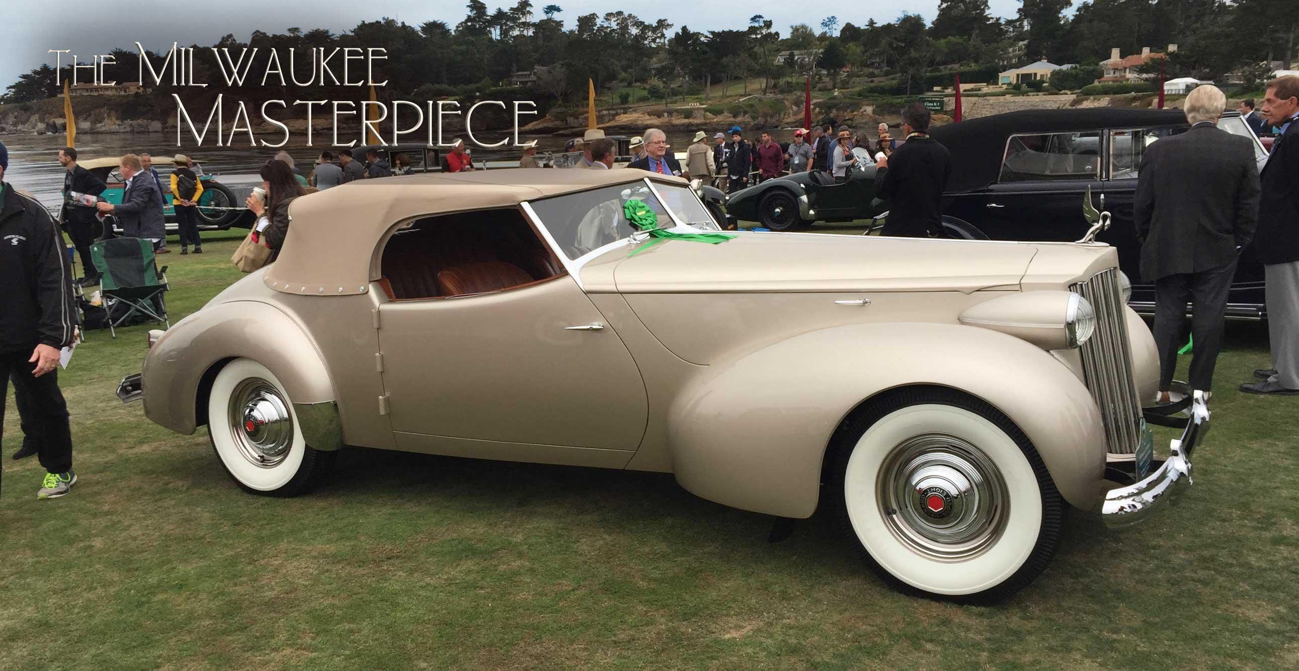 1939 Packard 1703 Super-8 Darrin Convertible Victoria   Pebble Beach Winner   The Milwaukee Masterpiece